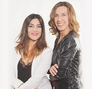 Elena Lobo y Ángela Agis